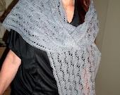 Misty Gray Lace scarf