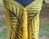 Sun Yellow Lace Scarf light and airy