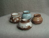 Four Miniature Vases wheelthrown stoneware