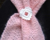 Pink Heart Scarf - a most delicate color