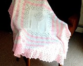 Rosetree Baby Afghan Blanket handknit large