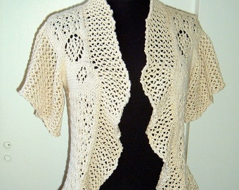 Lace Vest cotton natural