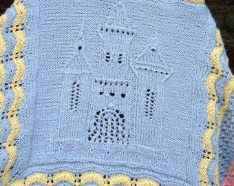 Blue Castle Baby Afghan Blanket - Lace