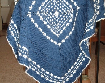 Midnight Blue Baby Afghan, Baby,Toddler, Stroller,Wheelchair