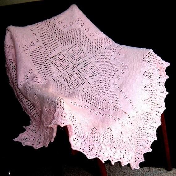 Pink Victorian Baby Afghan