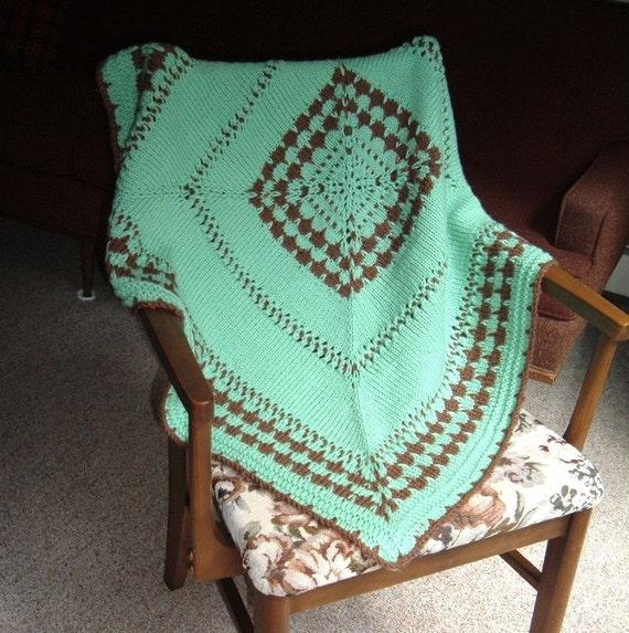 Mint Green Baby Afghan Crib Stroller, Car Seat, Wheelchair -  Mint Chocolat