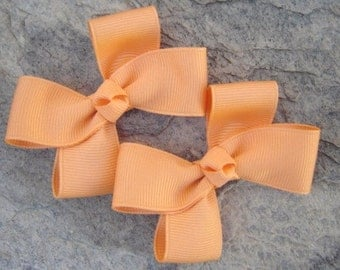 Creamsicle Hair Bows,Pigtail Hair Bows,3 Inches Wide,Alligator Clips,Non Slip,Birthday Party Favors