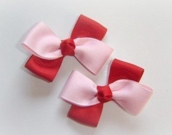 CLIPPIE SALE Pair of Red and Pink Clippies