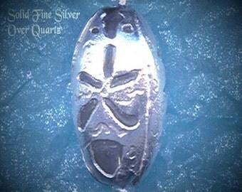 SILVER CRYSTAL GODDESS/ PENTACLE PENDANT/ PENDULUM/ Necklace/ Spell Cast Gems(tm)/clear QUARTZ in Solid Fine SILVER with Magic Alphabet - Pentagram /Star / Vintage /PMC/ Medieval /Pagan /Wicca /Sacred Feminine/Handmade/OOAK/AMULET/ Spell Worker Magic(sm)