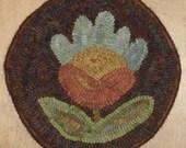 Prim Flower Hand Hooked Mat