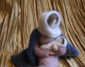 Needle Felted Mother with Child- Nativity