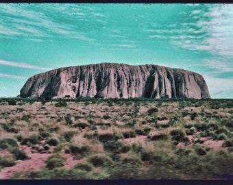 Instant Download Vintage Australian Uluru Ayers Rock Digital Download Photograph Color Photograph Commercial Use