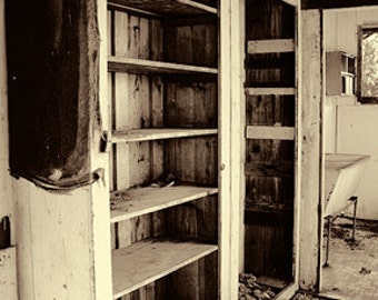 Instant Download Vintage Shabby Chic Cupboard Pantry Sepia Home Decor Digital Download Photograph  Commercial Use
