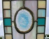 Small Light Blue Agate Panel