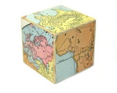 Desk Decor Vintage Map World Map Office Decor Paperweight