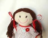 Doll - Brown Hair in Pony Tails