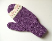 Handknit Mittens - Grapes - For Women and Teens