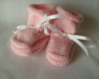 Handknit Baby Booties - A Blush of Pink and Why I made them