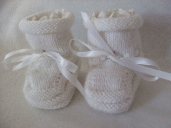 White as New Fallen Snow - Baby Booties - Why I made them