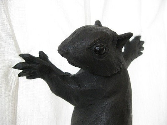 They were clawing...(Squirrel) - Sculpture