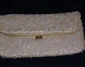 Vintage 1950's ladies Beaded Clutch Bag