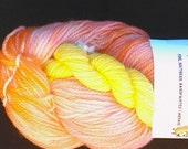 SALE Orangello Handdyed Handpainted Superwash Merino Sock Yarn