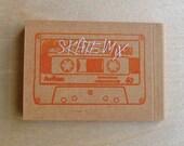 Cassette Note pad skateboard
