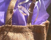 gift bag \/ three all-natural soaps with soap dish