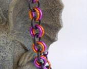 Violet and Orange Bracelet