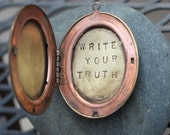 write your truth . a (whispered) soul mantra locket