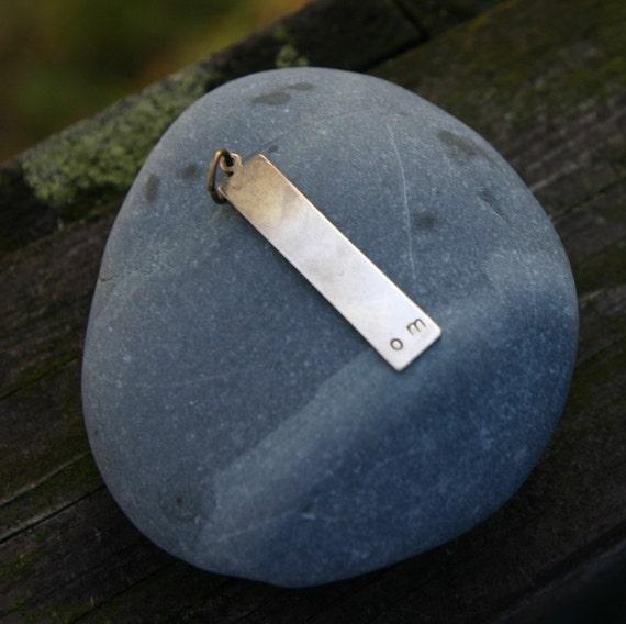 SALE om . a (brass) soul mantra necklace