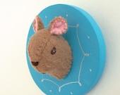 Brown Mouse  2 Feltidermy Brooch