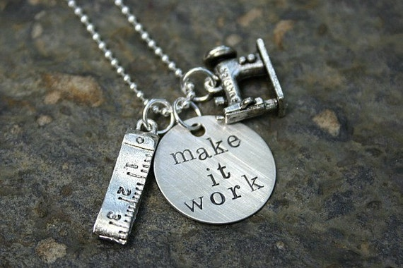 project runway MAKE IT WORK charm necklace