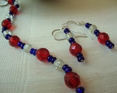 4th of July Sparkle Bracelet and Earing Set - Free Delivery