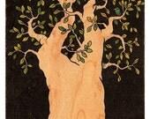 Wood Postcard - Bluebird