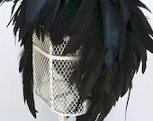 Feather Wig Ebony Iridescent Raven Black Chic Posh Fashion