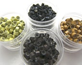 50 SILICONE Micro Ring CRIMP BEADS for Hair and Feather Extensions