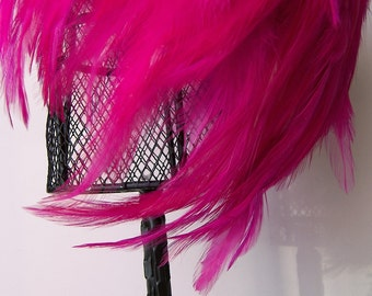 Feather Wig HOT PINK Chic Posh Fashion Photography
