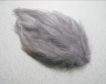 2 SILVERY GRAY Feather Pads