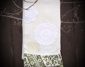 RESERVED FOR CANDICE - four custom curtain panels with new and vintage hand embroidery