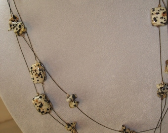 Dalmation Jasper on a Wire