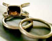 SALE Reg 110.00  Cushion Cut Smoky Quartz and Sterling Silver Ring