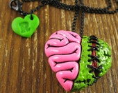 Zombie Heart Locket Necklace - rapscalliondesign