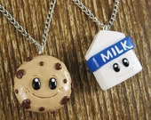 Milk & Cookies Best Friend Necklace Set