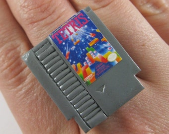 NES Game Adjustable Ring - Game of your Choice