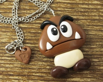 Large Goomba Inspired Necklace