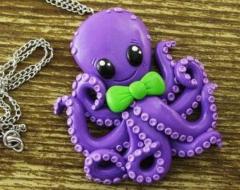BIg Friendly Octopus Necklace