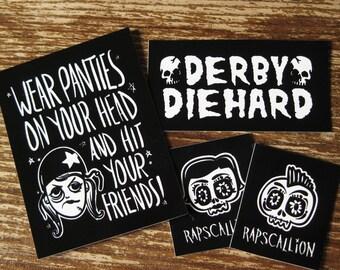 Roller Derby Vinyl Sticker Sheet
