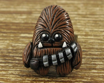 Wookiee Inspired Polymer Clay Adjustable Ring