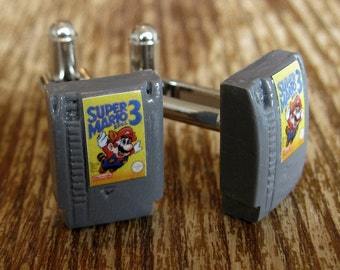 Tiny NES Nintendo Game Cartridge Cuff Links
